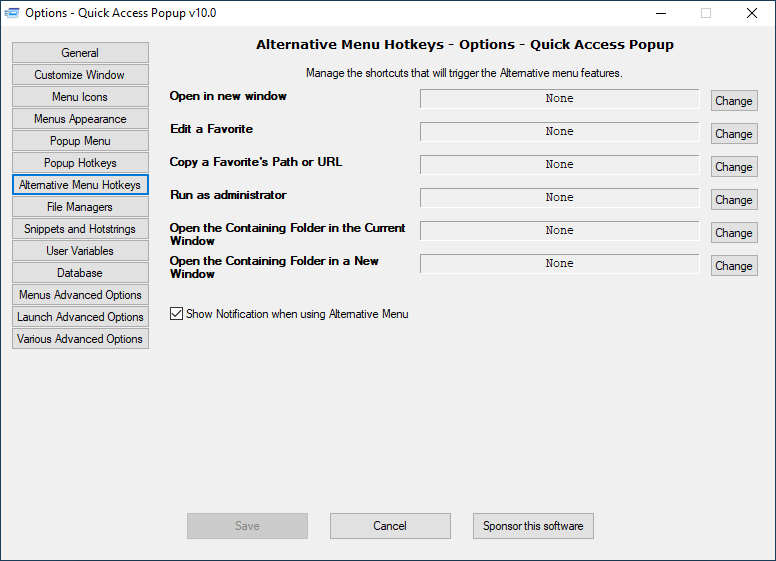 08) Options-Alternative Menu Hotkeys
