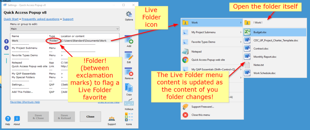 live-folders-help