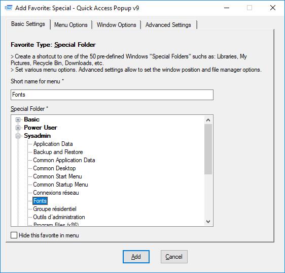 Windows – Quick Access Popup