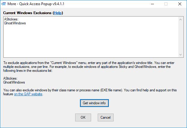 Folders – Quick Access Popup